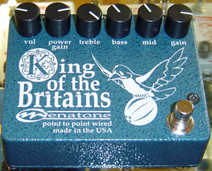 Menatone King of the Britains Guitar Pedal
