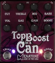 Menatone Top Boost in a Can Guitar Pedal