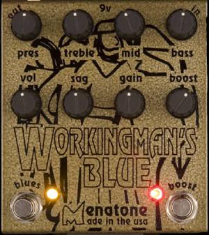 Menatone Workingman's Blue Guitar Pedal